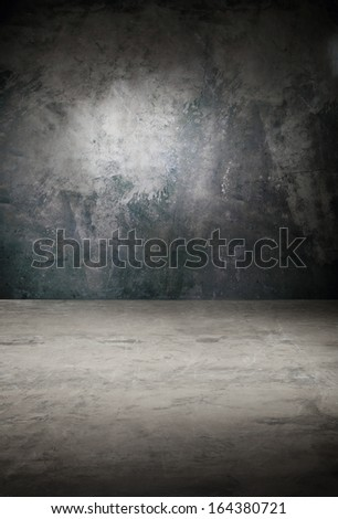 Dark background in grayscale effect of an old concrete, paint cracks /Background in shades of gray - stock photo
