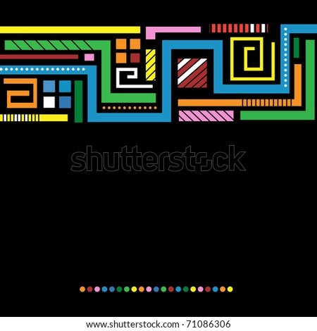 dark background with bright colored lines