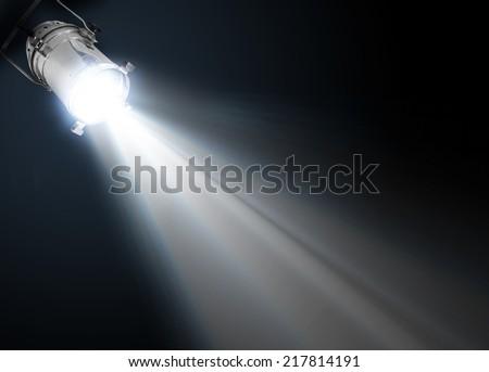 Dark background with spotlight - stock photo