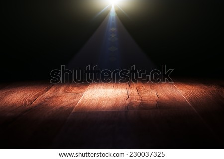 Dark background with spotlights - stock photo