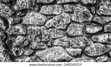 dark balearic stone texture - stock photo