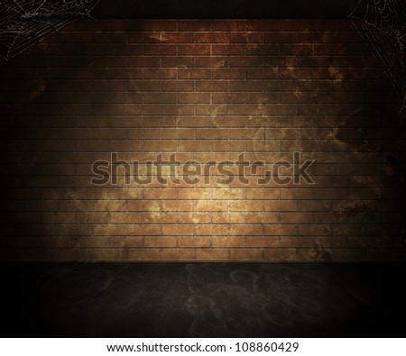 Dark Basement Background - stock photo