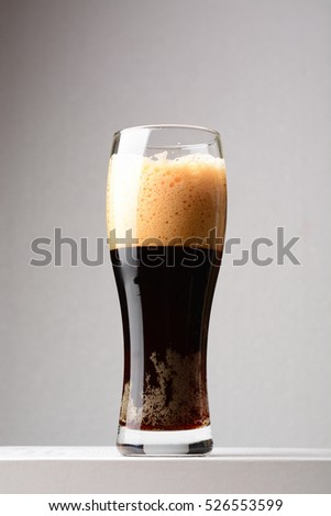 Dark beer close up