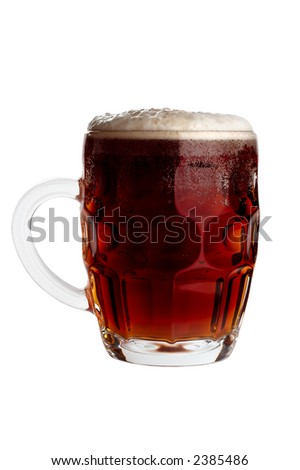 Dark beer mug - stock photo