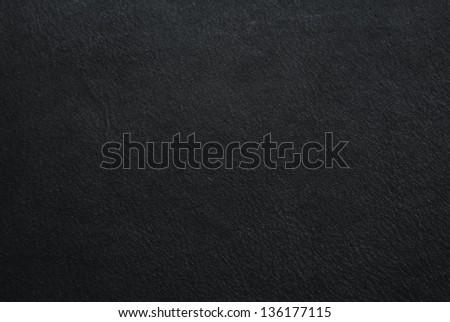 dark black cow leather texture - stock photo