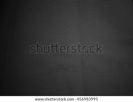 Dark black fabric texture background, linen