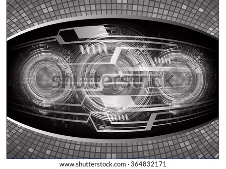 dark black Light Abstract Technology background for computer graphic website internet and business. circuit. illustration.digital.infographics. binary code. zero one. vector.eye - stock photo
