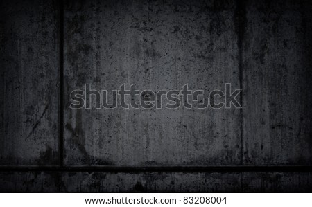Dark, black textured grunge background - stock photo