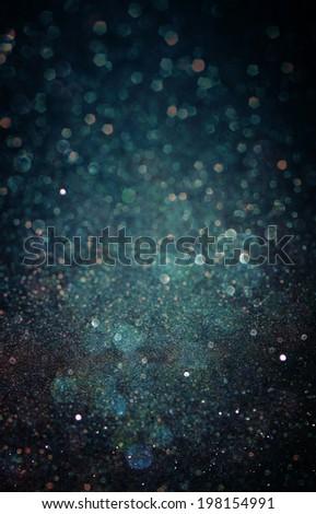 dark blue abstract bokeh light. defocused background - stock photo