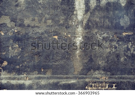 Dark blue aged smoked peeled wall texture background.  - stock photo