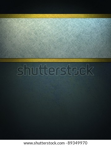 dark blue background illustration with white parchment paper ribbon stripe on top border of layout with gold accents and copy space for your text or ad - stock photo