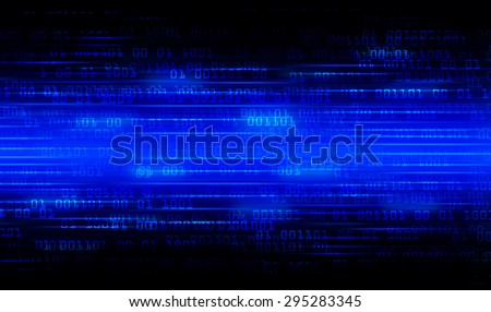 dark blue Binary matrix with motion effect. technology graphic computer cyber. infographics. one. zero. glow.  - stock photo