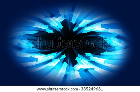 dark blue Circle wave arrow illustration of technology internet network computer background with binary number, style. infographics. Information. motion blur. pixel. Binary digit. web wabsite tech - stock photo
