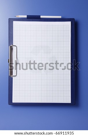 Dark blue clipboard isolated on the blue background.