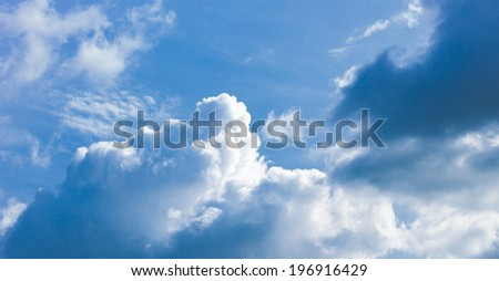 Dark blue clouds and sky