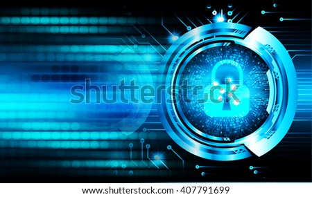 dark blue color Light Abstract Technology background for computer graphic website internet and business. circuit. illustration. infographics. motion move blur.neon. lock, key, Padlock