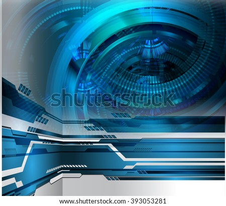 dark blue color Light Abstract Technology background for computer graphic website internet. circuit. illustration. digital. infographics. binary code. eye. Global. gear.