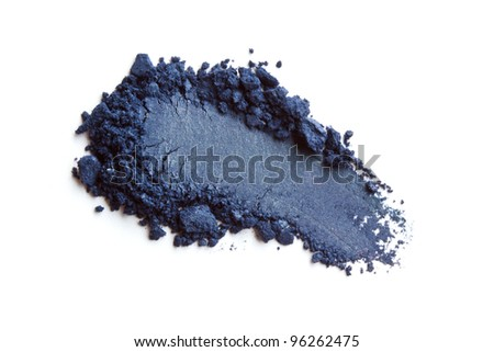 Dark blue eye shadow - stock photo