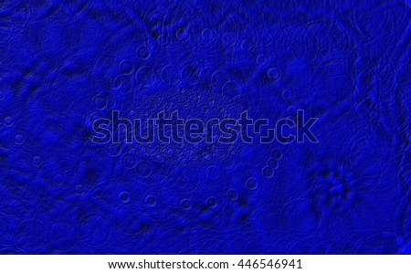 Dark blue fractal abstract background. Pattern with drops on the surface of water, texture with plastic effect