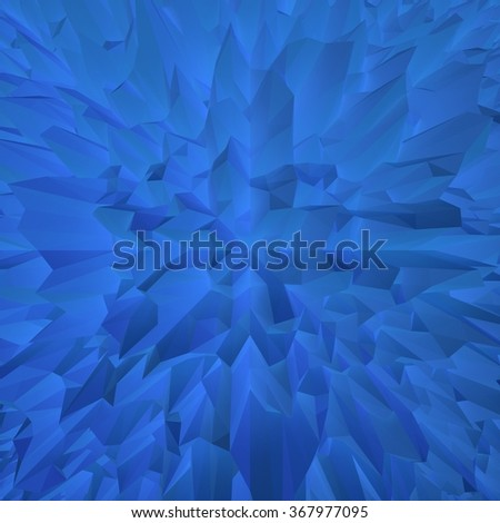 Dark Blue Geometric Abstract:  Hi Res 3d rendered abstract pattern to use on your next project.  Unique design. - stock photo