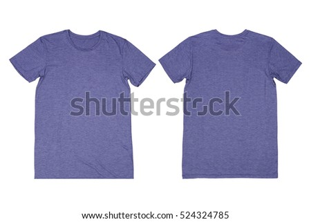 Dark blue gray t-shirt isolated, Dark blue gray t-shirt on white background