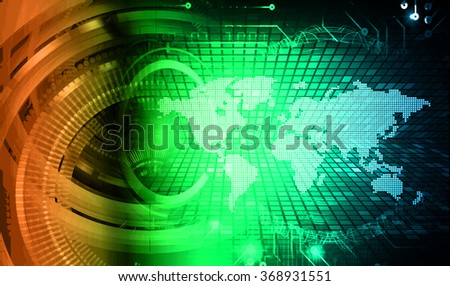 dark blue green orange Light Abstract Technology background for computer graphic website internet and business. circuit. illustration.digital.infographics. binary code. zero one. eye scan virus world
