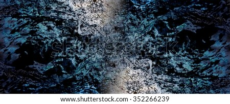 Dark blue-green texture water, banner. Small ripples of waves follows the surface of cold water in different directions. Recalls the difficulties of Hiking through the wilderness. - stock photo