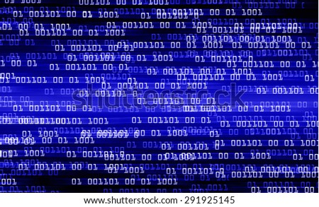 dark blue illustration of technology internet network computer background with binary number, style background. infographics. Information - stock photo