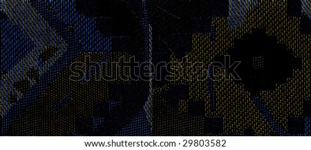 dark blue invoice flax fabric wickerwork texture background