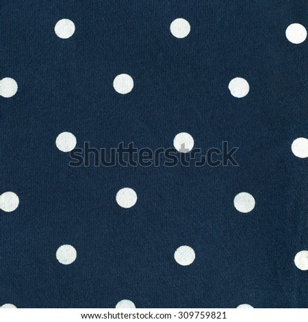Dark Blue Jersey Fabric with White Dots Pattern, Texture background, retro style  - stock photo