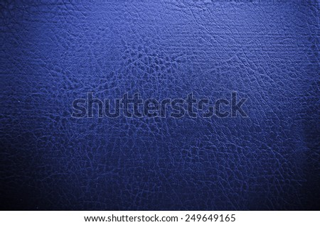 dark blue leather texture Close up - stock photo