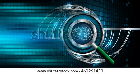 Dark blue Light Abstract Technology background for computer graphic website internet business. circuit. illustration. infographics. motion move blur.neon. Brainstorm, Brain. Bulb Ideas - stock photo