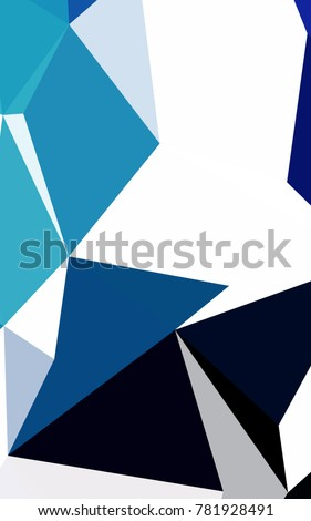 Dark BLUE low poly template. Triangular geometric sample with gradient.  The best triangular design for your business.