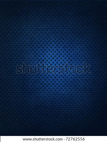 Dark Blue Metal Grate Background - stock photo
