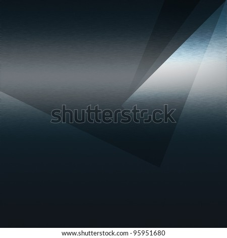 Dark blue metal texture, triangle sheets as background to insert text or design - stock photo