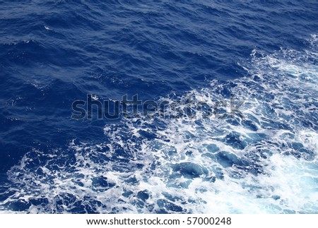 Dark blue sea water surface with ripple can use as background