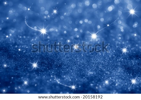 dark blue stars and glitter sparkles background , super macro shot, shallow DOF - stock photo