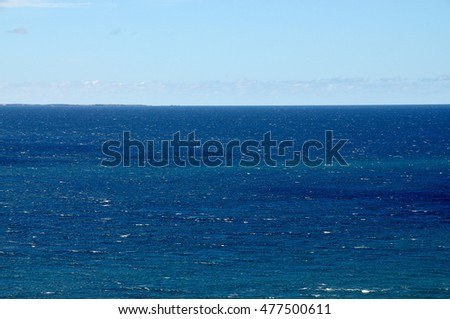 Dark blue waters of the waters of the Atlantic ocean found around the island of Fogo in Cabo Verde