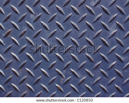 dark blue worn diamond plate