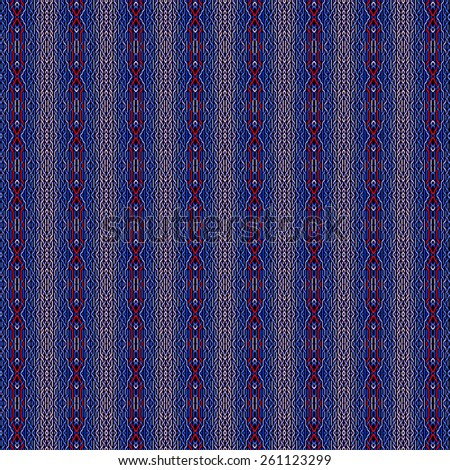dark blue woven patterns background - stock photo