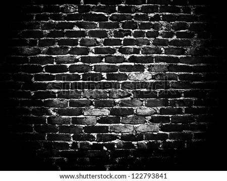 dark brick wall - stock photo