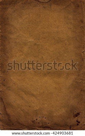 dark brown coffee old paper background - stock photo