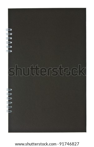 Dark brown cover of spiral notebook