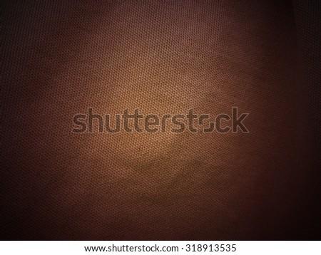 Dark brown fabric texture background, linen - stock photo