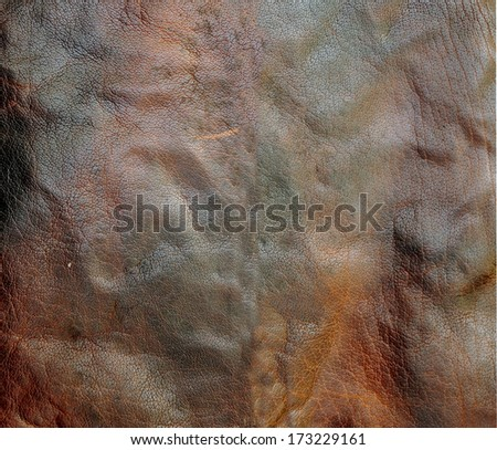 dark brown leather background  - stock photo