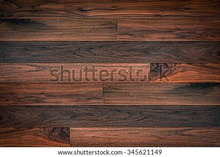 Dark brown parquet wood texture background - stock photo