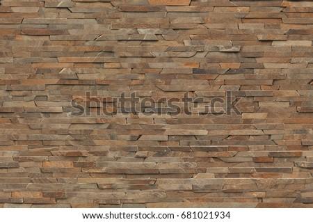Dark Brown Rock Brick Texture Wallpaper Clean Modern Stone Vintage Effect