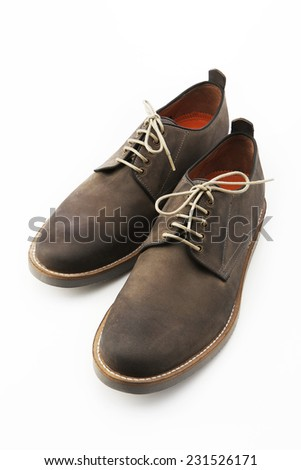 Dark brown shoe isolated