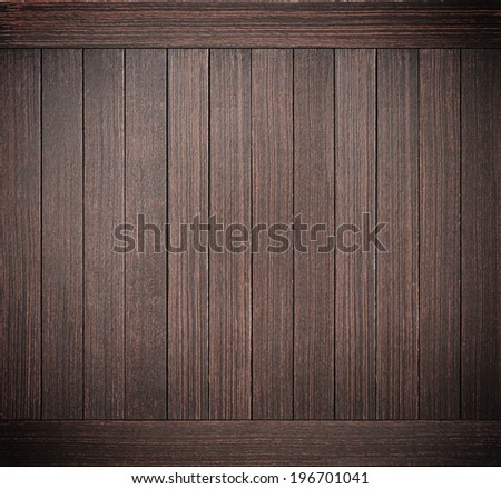 Dark brown wood plank texture as background