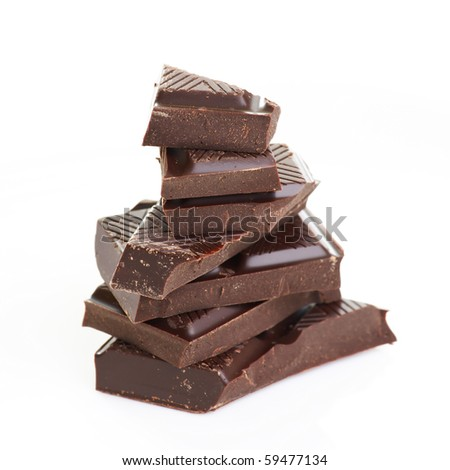 dark chocolate - stock photo